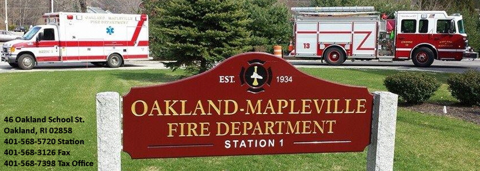 Oakland Mapleville Fire Department | Oakland, RI 02858